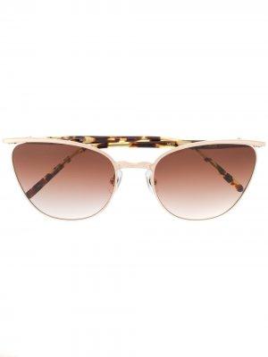 Солнцезащитные очки с эффектом градиента Matsuda. Цвет: розовый