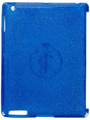Чехол для планшета с блестками Juicy Couture. Цвет: синий