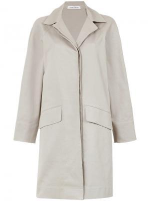Side slits cape coat Gloria Coelho. Цвет: серый