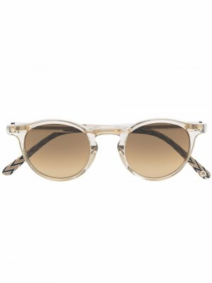 Солнцезащитные очки в круглой оправе Etnia Barcelona. Цвет: золотистый