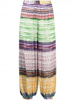 Пляжные брюки с вышивкой Missoni Mare. Цвет: зеленый