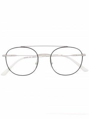 Очки-авиаторы Calvin Klein. Цвет: серебристый