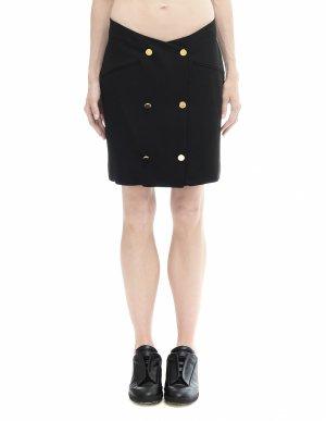 Черная мини-юбка с пуговицами Maison Margiela