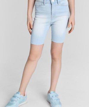 Шорты-велосипедки для девочек O`Stin. Цвет: светло-голубой