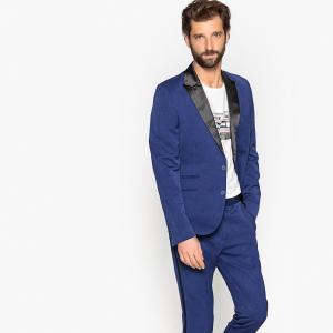 Пиджак костюмный приталенного покроя LA REDOUTE COLLECTIONS. Цвет: синий морской