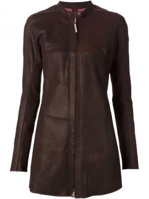 Кожаная куртка Isaac Sellam Experience. Цвет: коричневый