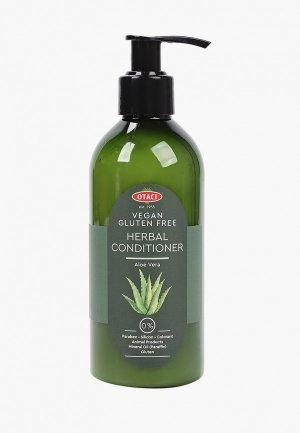 Кондиционер для волос Otaci Aloe Vera herbal conditioner восстанавливающий, с соком алоэ вера, 250 мл.. Цвет: зеленый