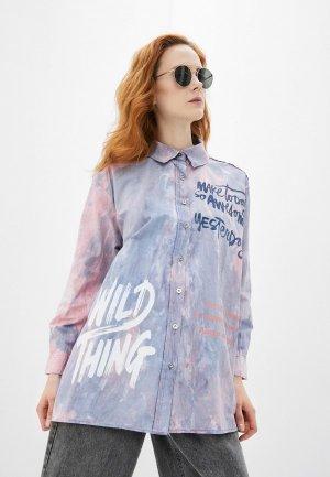 Рубашка Dairos. Цвет: разноцветный