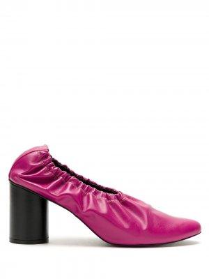 Туфли со сборками Gloria Coelho. Цвет: розовый