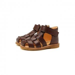 Кожаные сандалии Angulus. Цвет: коричневый