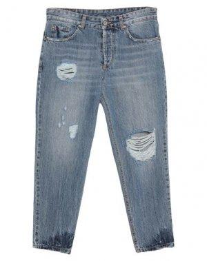 Укороченные джинсы DIXIE. Цвет: синий