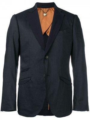 Пиджак с необработанными лацканами Maurizio Miri. Цвет: синий
