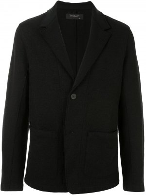 Однобортный пиджак Transit. Цвет: черный