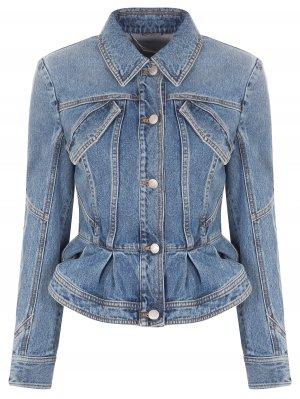 Куртка джинсовая с баской A.MCQUEEN