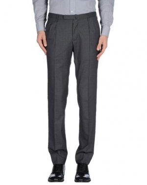 Классические брюки INCOTEX. Цвет: свинцово-серый