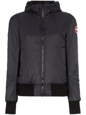 Куртка-бомбер Dore с капюшоном Canada Goose. Цвет: синий
