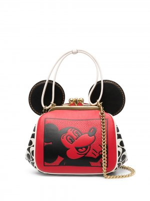 Сумка Kisslock Mickey Mouse Disney x Keith Haring Coach. Цвет: красный