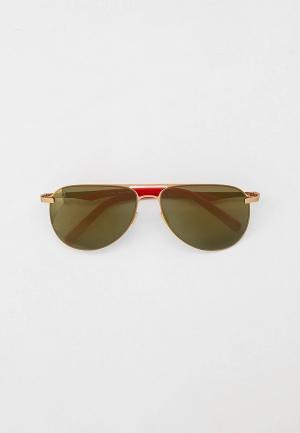Очки солнцезащитные Plein Sport. Цвет: золотой