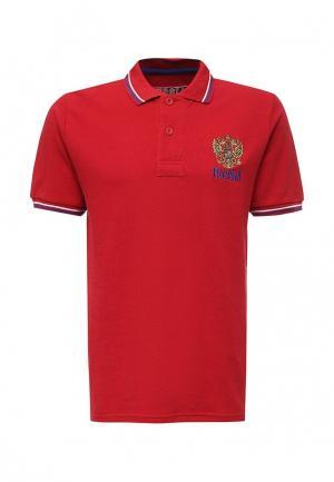 Поло Atributika & Club™ Россия. Цвет: красный