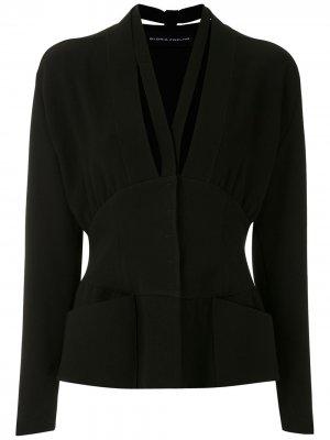 Блузка на пуговицах с вырезами Gloria Coelho. Цвет: черный
