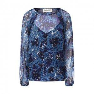 Шелковая блузка Essentiel Antwerp. Цвет: синий