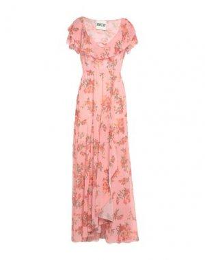 Длинное платье ANIYE BY. Цвет: розовый