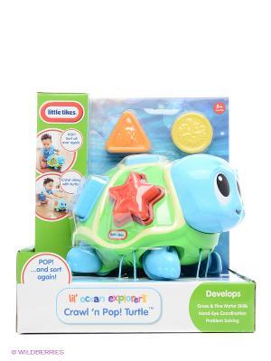 Игрушка развивающая Ползающая черепаха-сортер, звук. эф-ты Little Tikes. Цвет: голубой