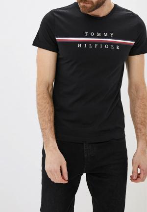 Футболка Tommy Hilfiger. Цвет: черный