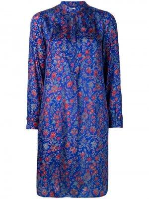 Платье с цветочным принтом Antik Batik. Цвет: синий