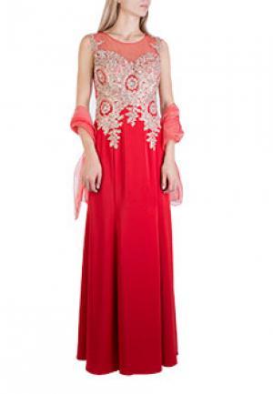Платье MIKAEL. Цвет: красный