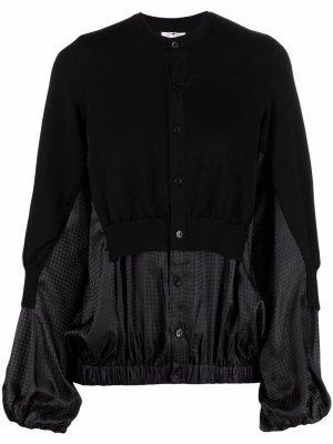 Panelled buttoned jacket Comme Des Garçons Noir Kei Ninomiya. Цвет: черный