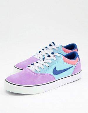 Кроссовки для скейтбординга сиреневого и голубого цветов Chron 2 Skate-Фиолетовый цвет Nike SB