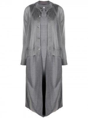 Многослойное платье-кардиган Junya Watanabe. Цвет: серый