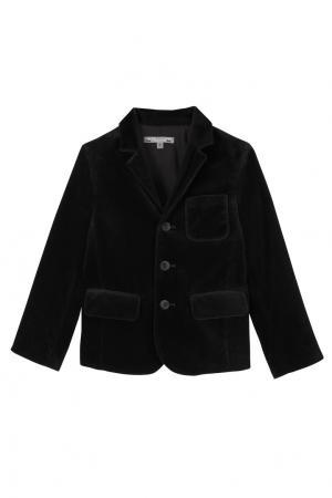 Черный бархатный пиджак JAMESON Bonpoint. Цвет: черный