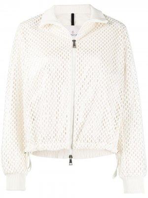 Куртка Pulcherrima с перфорацией Moncler. Цвет: белый