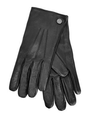 Перчатки из кожи наппа с кашемировой подкладкой MORESCHI. Цвет: черный
