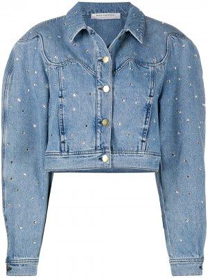Декорированная укороченная джинсовая куртка Philosophy Di Lorenzo Serafini. Цвет: синий
