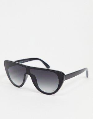 Черные солнцезащитные очки-маска -Черный цвет AJ Morgan