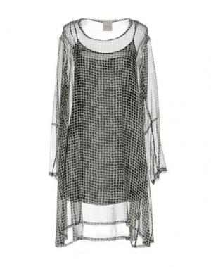 Короткое платье EGGS. Цвет: светло-серый