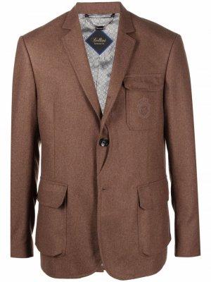 Пиджак с вышитым логотипом Billionaire. Цвет: коричневый