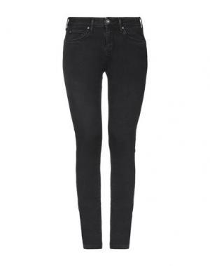 Джинсовые брюки-капри PEPE JEANS. Цвет: черный