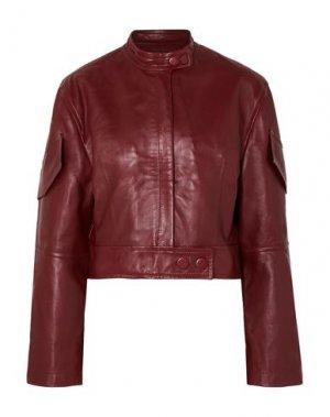 Куртка PETAR PETROV. Цвет: красно-коричневый
