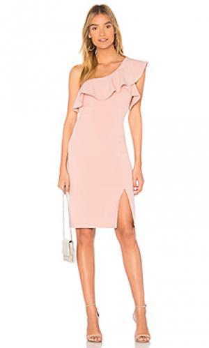 Мини платье Bardot. Цвет: розовый