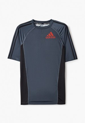 Футболка спортивная adidas Combat Grappling Rashguard Short Sleeve. Цвет: серый