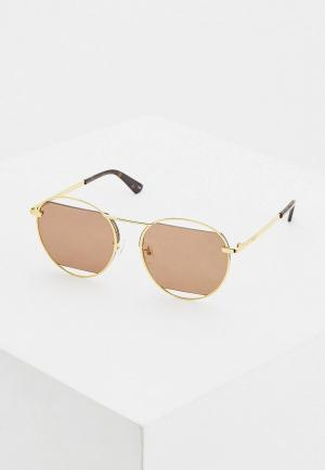 Очки солнцезащитные McQ Alexander McQueen MQ0232SA 002. Цвет: золотой