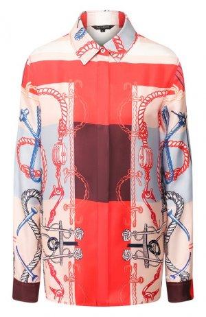 Шелковая рубашка St. John. Цвет: красный