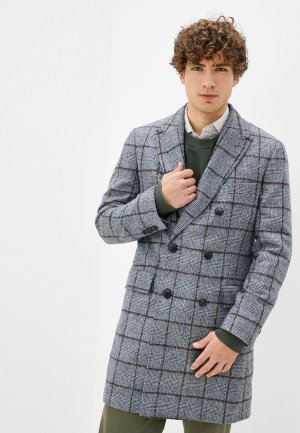 Пальто Hackett London. Цвет: серый