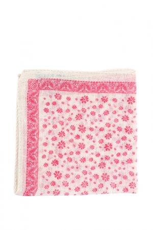 Карманный платок GRAN SASSO. Цвет: белый, красный в цветы