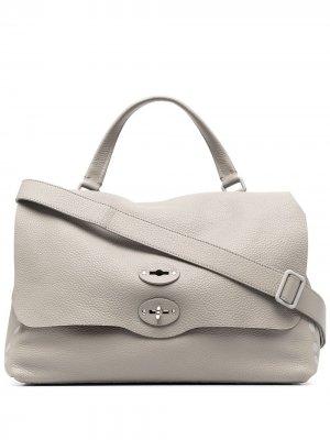 Большая сумка-тоут Postina Zanellato. Цвет: серый