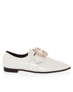 Лоферы DI1DX18012 36 белый Suecomma Bonnie. Цвет: белый